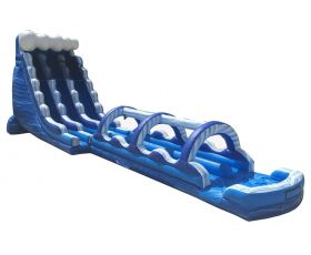 Double Lane Inflatable Water Slip n' Slide, Blue Marble