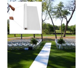 50ft White Wedding Walkway Aisle Runner