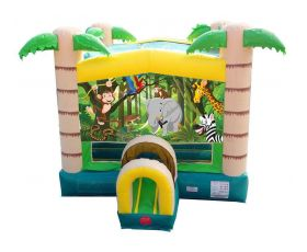 Modular Inflatable Bounce House, Tropical Jungle