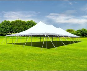40' X 80' Commercial Aluminum Sectional Pole Tent - White