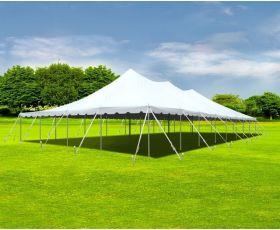 40' X 80' Commercial Aluminum Sectional Pole Tent - White