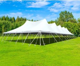 60' X 120' Commercial Aluminum Pole Tent - White