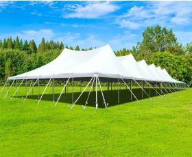 60' X 150' Commercial Aluminum Pole Tent - White