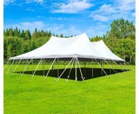 60' X 60' Commercial Aluminum Pole Tent - White