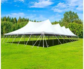 60' X 90' Commercial Aluminum Pole Tent - White