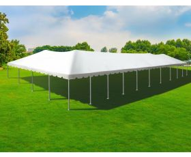 40' X 100' Aluminum Frame Tent - White