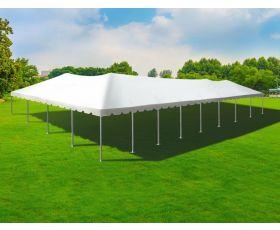 40' X 80' Single Tube Aluminum Frame Tent - White