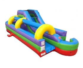 34' Inflatable Water Slip n' Slide, Retro Rainbow