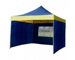 10' x 10' Premium Pop-Up Party Tent - Navy Blue and Yellow
