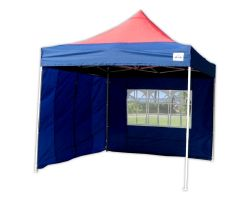 10' x 10' Deluxe Pop-Up Party Tent - Navy Blue and Red