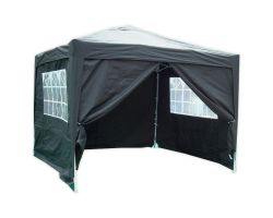 10' x 10' Basic Pop-Up Party Tent - Black