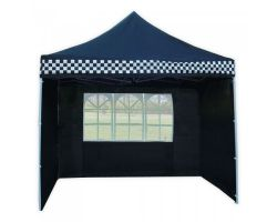 10' x 10' Premium Pop-Up Party Tent - Black Checker