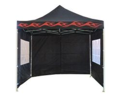 10' x 10' Premium Pop-Up Party Tent - Black Flame