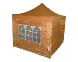 10' x 10' Deluxe Pop-Up Party Tent - Burnt Orange