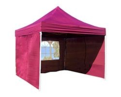 10' x 10' Deluxe Pop-Up Party Tent - Maroon