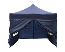 10' x 10' Deluxe Pop-Up Party Tent - Navy Blue