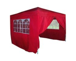 10' x 10' Basic Pop-Up Party Tent - Red