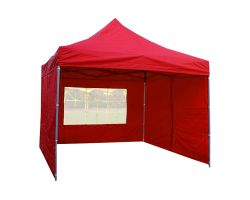 10' x 10' Premium Pop-Up Party Tent - Red