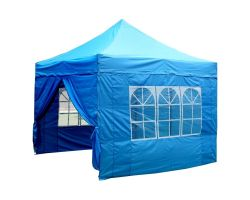 10' x 10' Premium Pop-Up Party Tent - Sky Blue