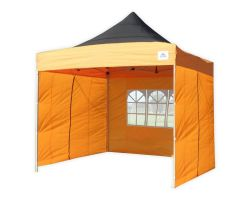 10' x 10' Deluxe Pop-Up Party Tent - Black and Orange