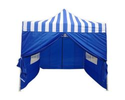 10' x 10' Deluxe Pop-Up Party Tent - Blue Stripe