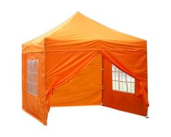 10' x 10' Deluxe Pop-Up Party Tent - Orange