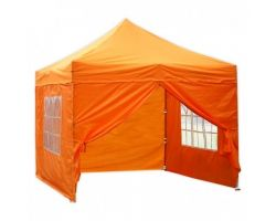 10' x 10' Premium Pop-Up Party Tent - Orange
