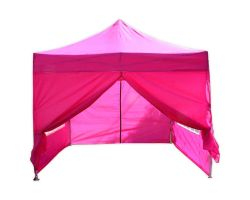 10' x 10' Deluxe Pop-Up Party Tent - Pink