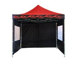 10' x 10' Deluxe Pop-Up Party Tent - Red Flame