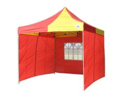 10' x 10' Premium Pop-Up Party Tent - Red and Yellow
