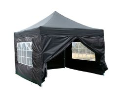 10' x 10' Premium Pop-Up Party Tent - Black