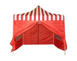 10' x 10' Deluxe Pop-Up Party Tent - Red Stripe