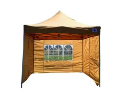 10' x 10' Deluxe Pop-Up Party Tent - Tan