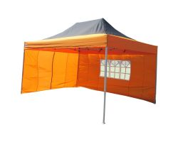 10' x 15' Premium Pop-Up Party Tent - Black and Orange