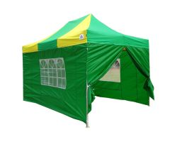 10' x 15' Premium Pop-Up Party Tent - Green and Yellow