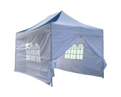 10' x 15' Premium Pop-Up Party Tent - Navy Blue and White
