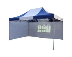 10' x 15' Premium Pop-Up Party Tent - Blue and White