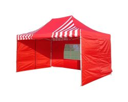 10' x 15' Premium Pop-Up Party Tent - Red Stripe