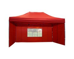 10' x 15' Deluxe Pop-Up Party Tent - Red