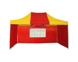 10' x 15' Premium Pop-Up Party Tent - Red and Yellow