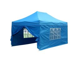 10' x 15' Deluxe Pop-Up Party Tent - Sky Blue