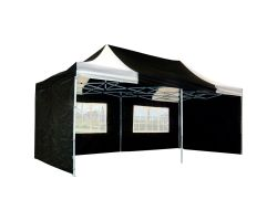 10' x 20' Premium Pop-Up Party Tent - Black and White