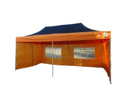 10' x 20' Deluxe Pop-Up Party Tent - Black and Orange