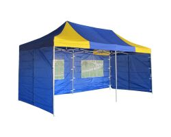 10' x 20' Deluxe Pop-Up Party Tent - Blue and Yellow