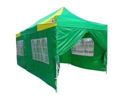 10' x 20' Deluxe Pop-Up Party Tent - Green and Yellow