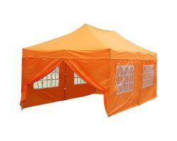 10' x 20' Deluxe Pop-Up Party Tent - Orange