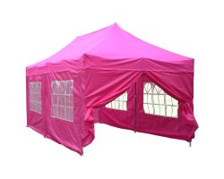 10' x 20' Deluxe Pop-Up Party Tent - Pink