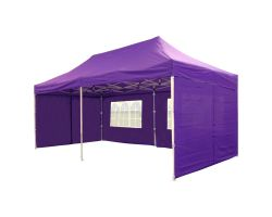 10' x 20' Deluxe Pop-Up Party Tent - Purple