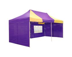 10' x 20' Premium Pop-Up Party Tent - Purple and Yellow