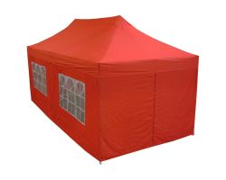 10' x 20' Deluxe Pop-Up Party Tent - Red